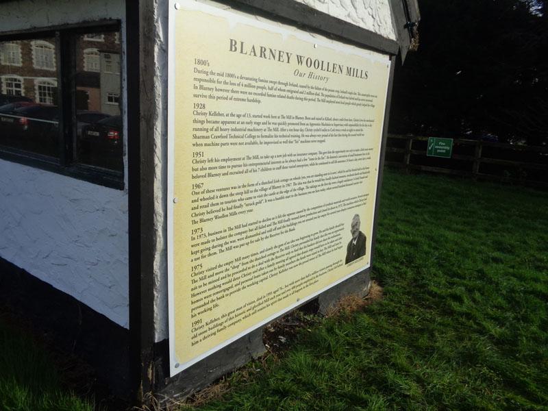 Blarney Woolen Mills Exterior Plaque