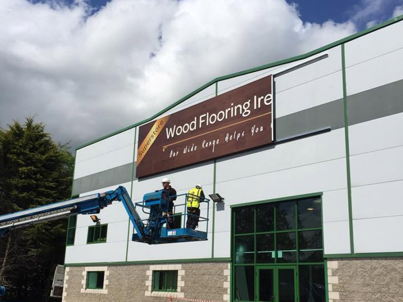 Wood Flooring Ireland Business Building Signage
