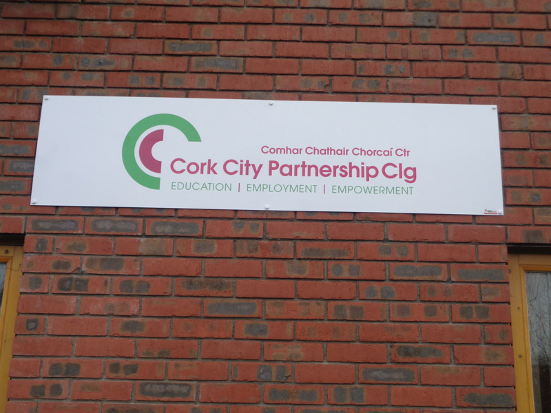 Cork City Partnership CLG Exterior Sign