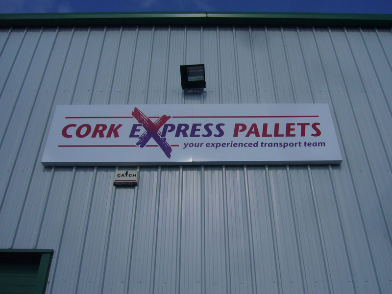 Cork Express Palettes Exterior Business Signage