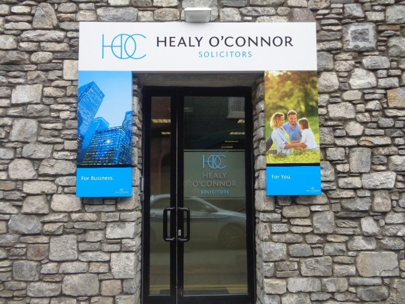 Healy O Connor Solicitors Exterior Business Signage