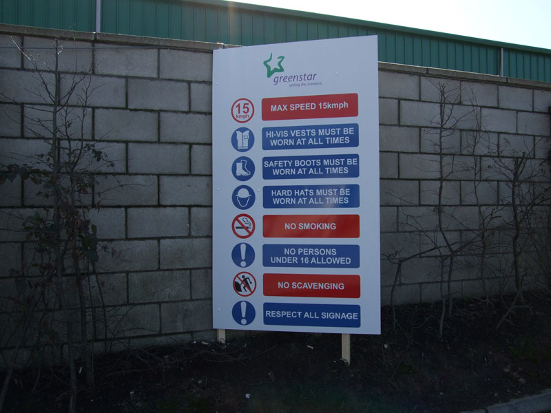 Greenstar Safety Sign