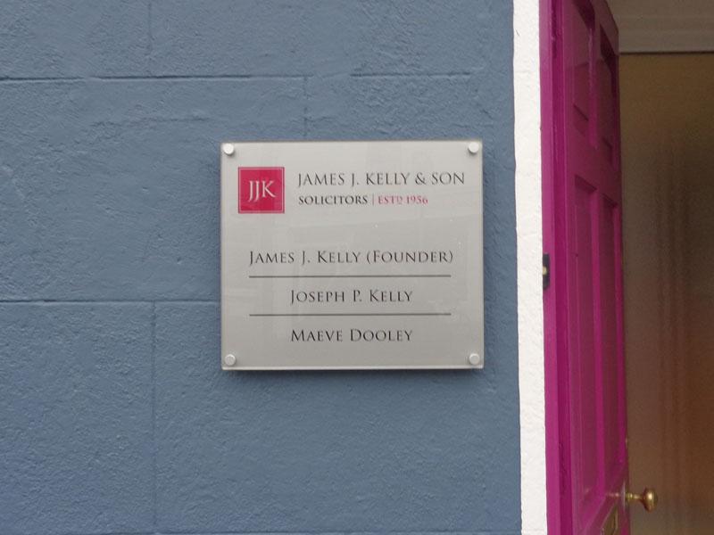 James J Kelly & Son Solictors Exterior Plaque