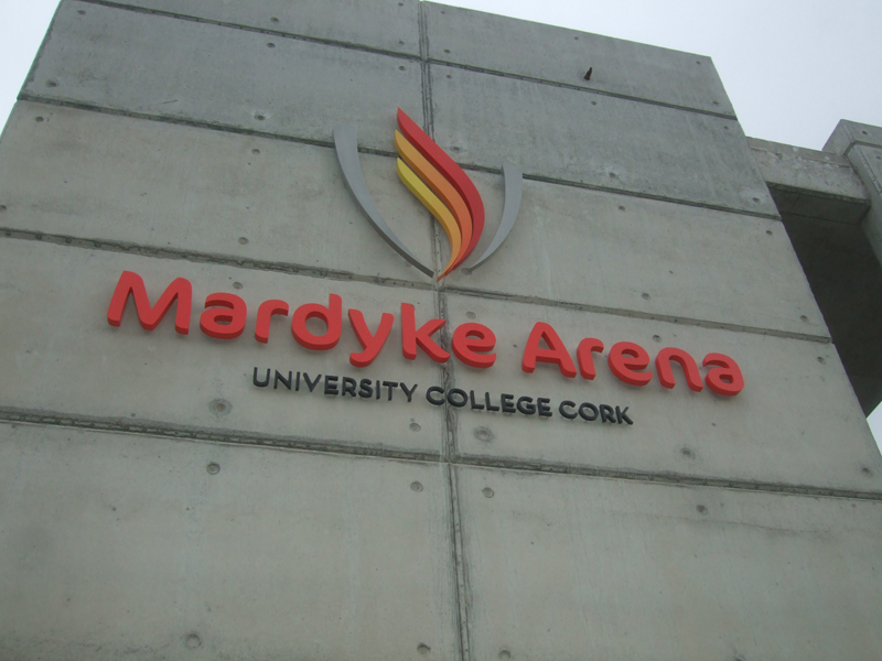 Mardyke Arena Exterior Raised Lettering Signage