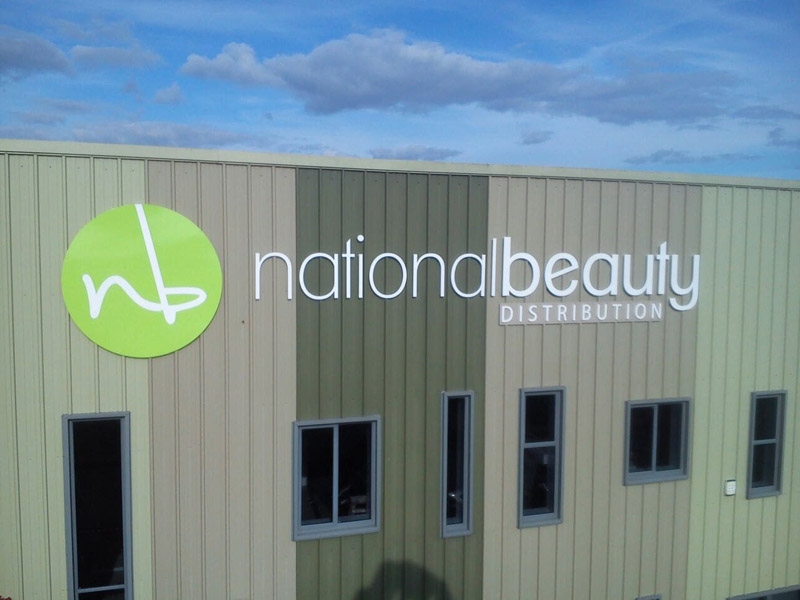 National Beauty Business Building Signage
