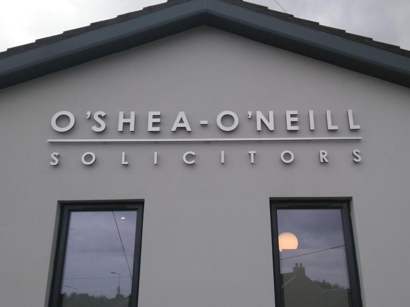 O Shea O Neill Exterior Raised Lettering