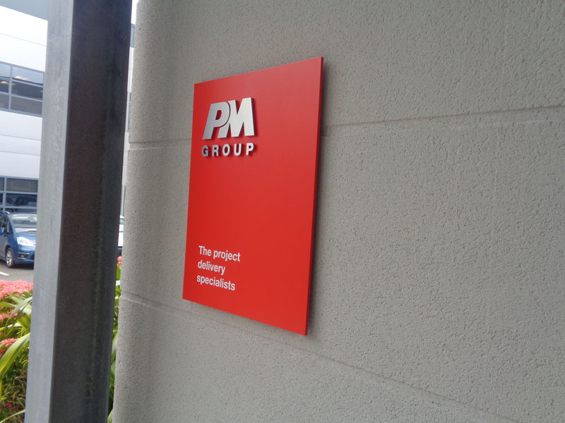PM Group Exterior Raised Plaque