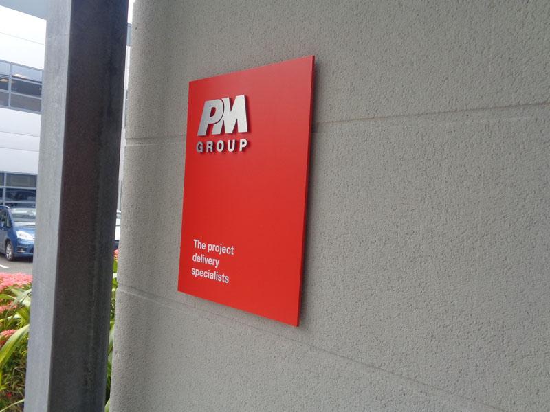 PM Group Exterior Raised Plaque