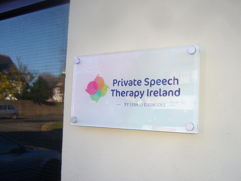 Private Speech Therapy Ireland Exterior Plaque