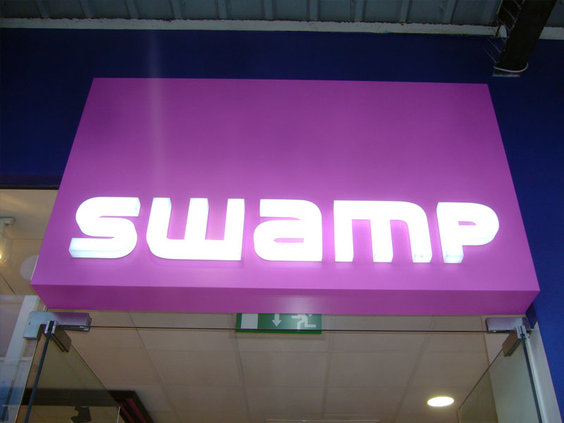 SWAMP illuminated letters