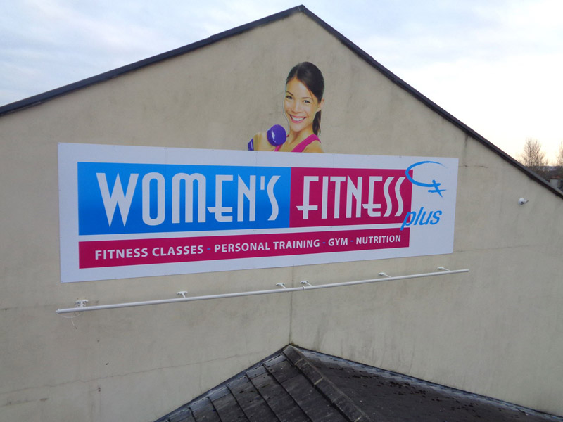 Womens Fitness Exterior Business Signage