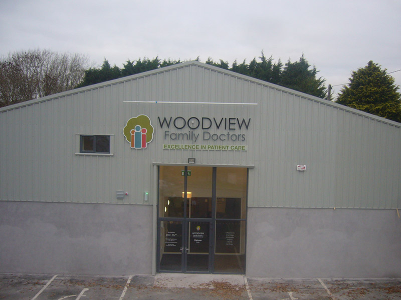 Woodview Building Business Sign