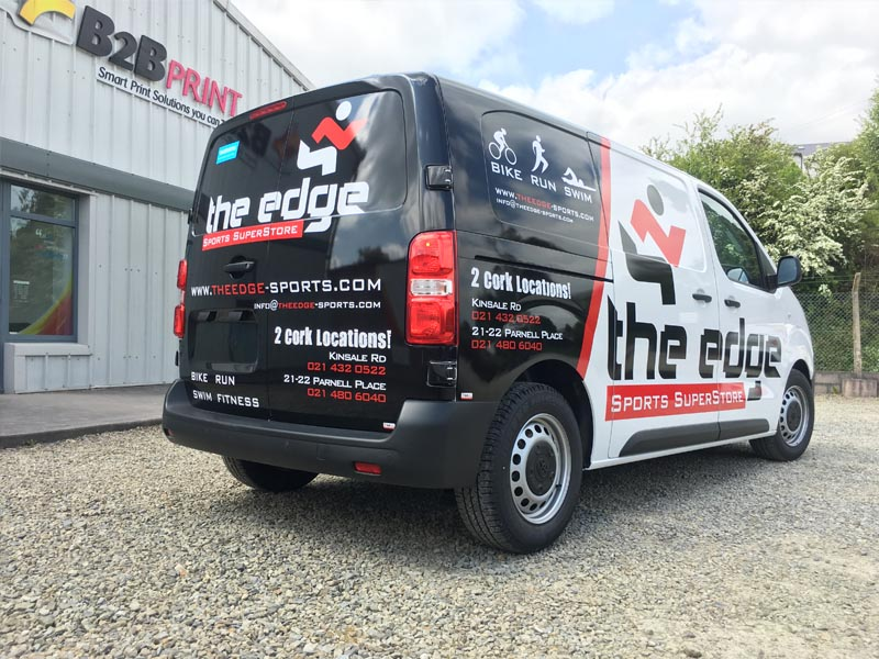2_The Edge Sports_Med Van_Partial Wrap