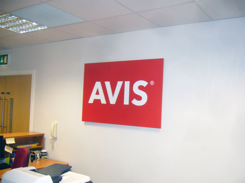 AVIS raised foamex panel and vinyl print