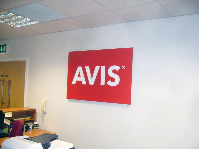 AVIS raised foamex panel and vinyl print