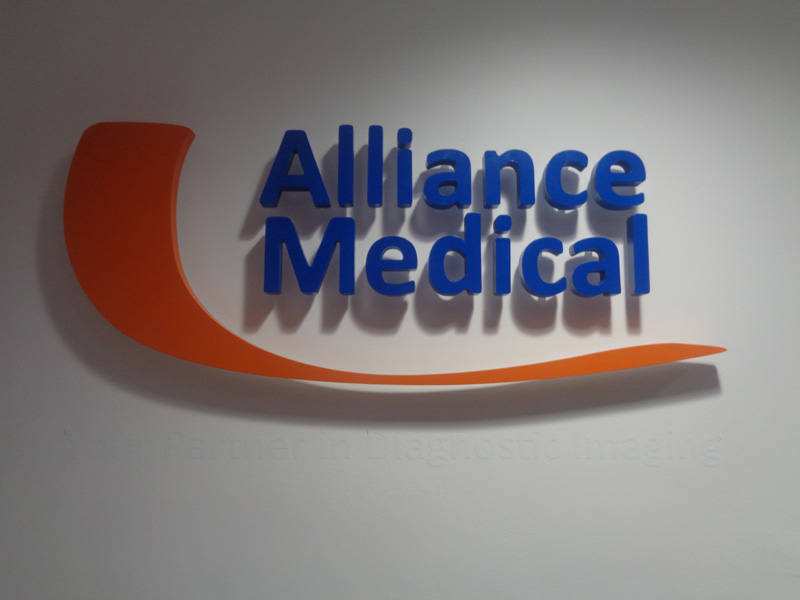 Alliance Medical Interior Raised Lettering