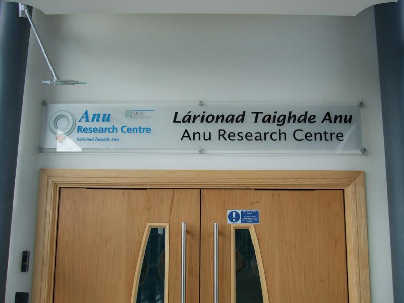 Anu Research Centre Interior Plaque