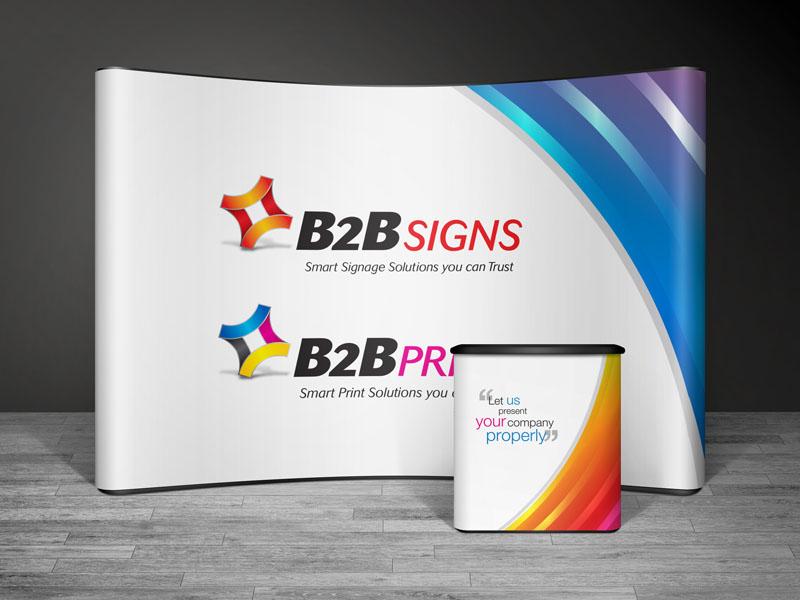 B2B Signs & B2B Print 5 Panel Pop Up Stand