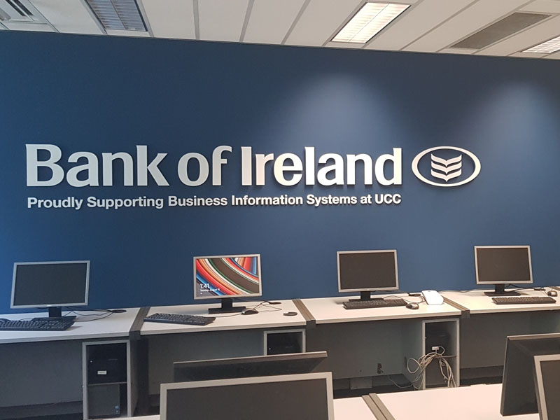 Bank of Ireland Raised Lettering