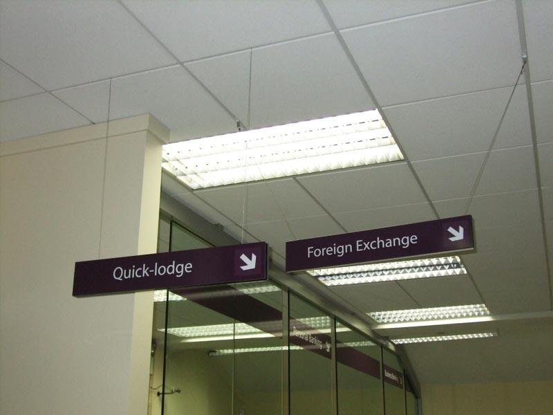 Banking hanging signs