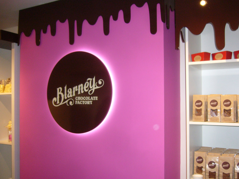 Blarney Chocolate Factory Illuminated Signs
