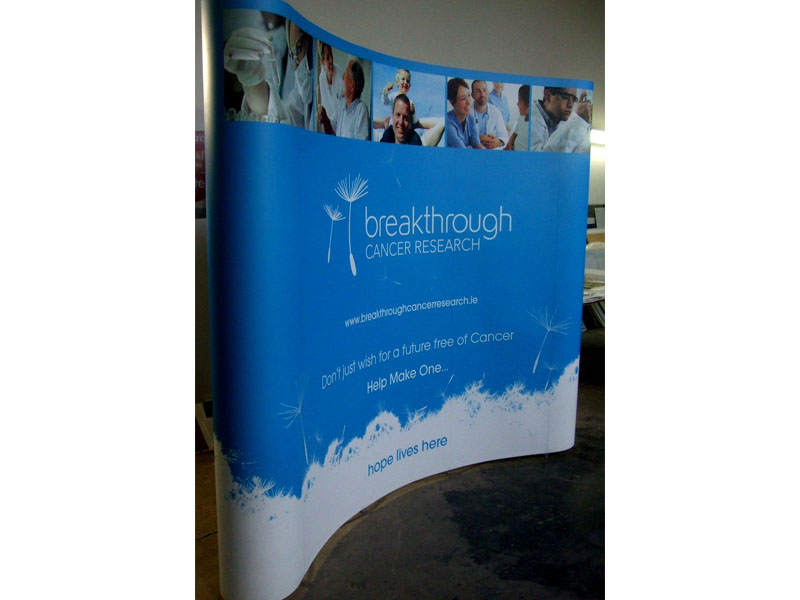 Breakthrough Cancer Research 5 Panel Pop Up Stand