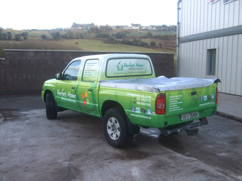 This is a Full Wrap we designed and installed for Perfect Home
