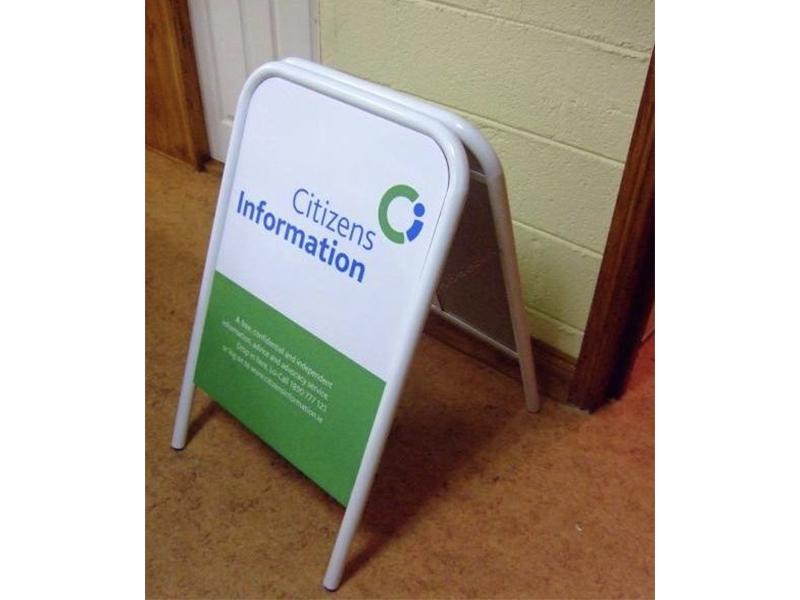 Citizens Information Pavement Sign