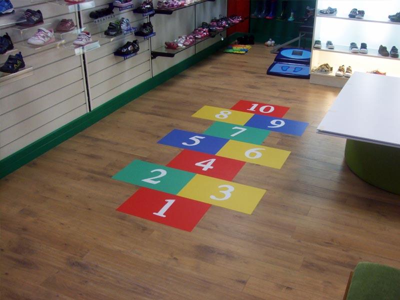 Clarks hopscotch floor graphic