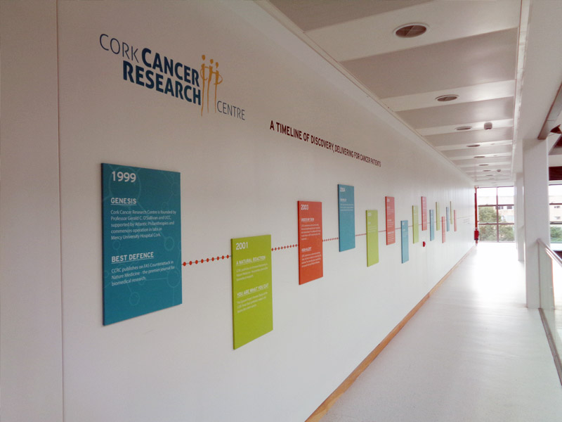Cork Cancer Research Timeline Wall