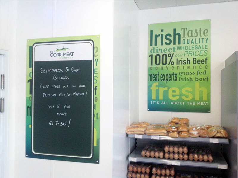 Cork Meat Company blackboard
