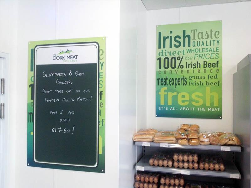 Cork Meat Company blackboard