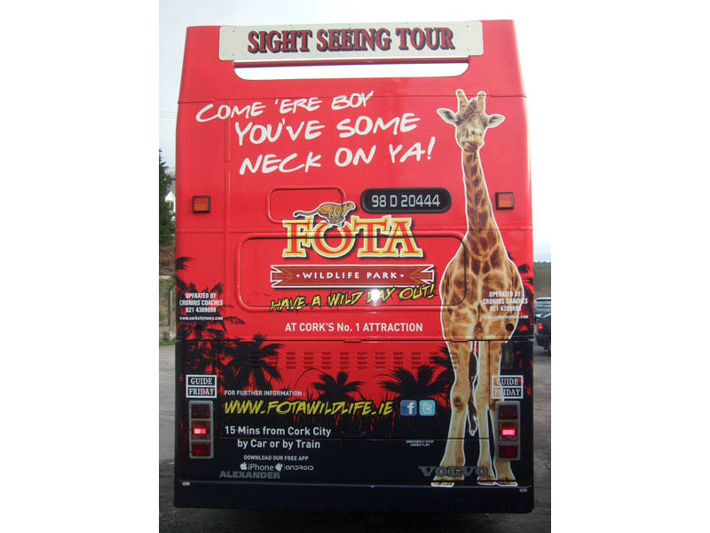 Cork Sight Seeing Tour_Back of Double Decker Bus partial wrap 2 FOTA Wildlife
