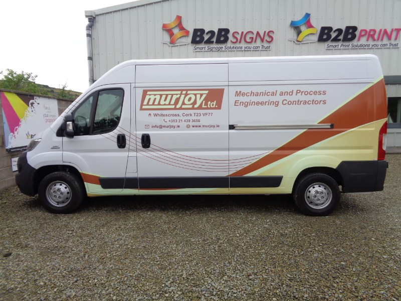 This is a Custom Partial Wrap we designed and installed Murjoy Engineering
