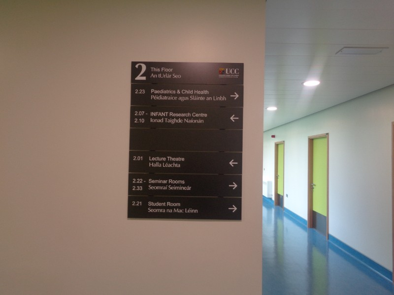 wayfinding edmonton examples architectural gallery building interior sign signs and comsign signage