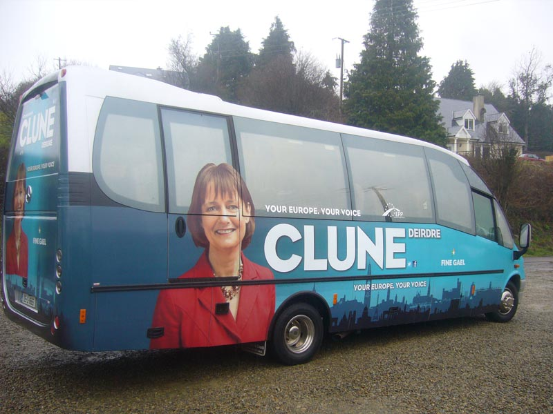 FINE GAEL Full Wrap Bus campaign