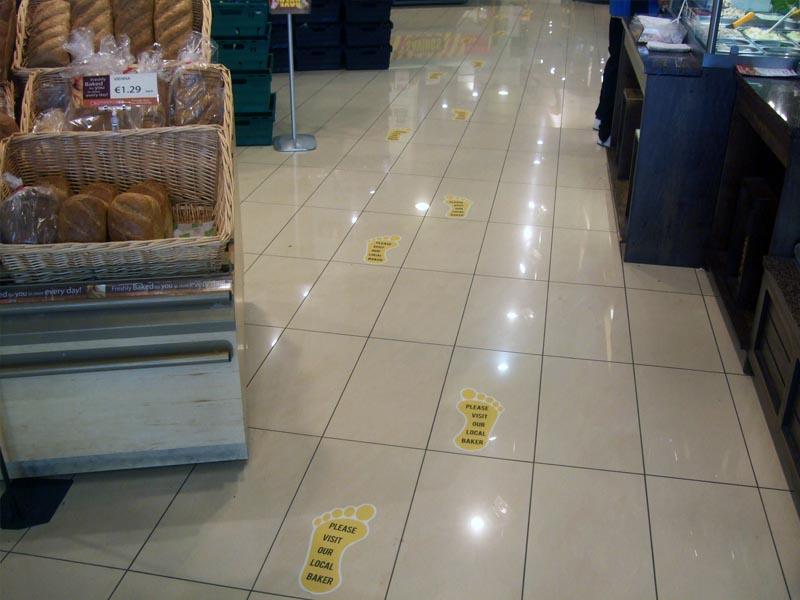 Footprints floor graphics