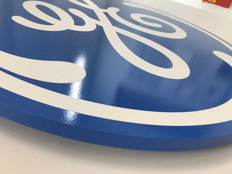 GE Healthcare Interior Raised Lettering