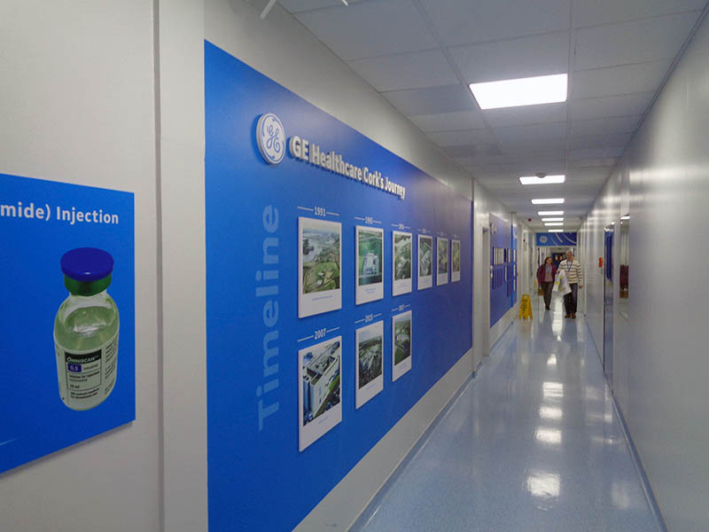 GE Healthcare Timeline Wall by B2B Signs