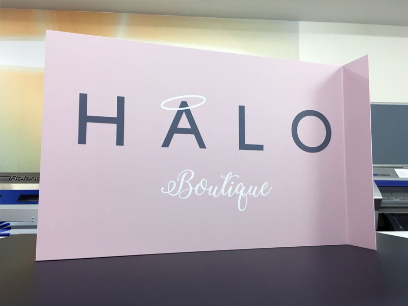 Halo boutique-projection sign