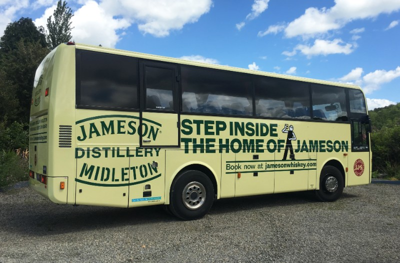 This is a Full Wraps we installed for Jameson Whiskey Tour Bus