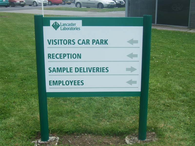 Lancaster Laboratories post and panel car park