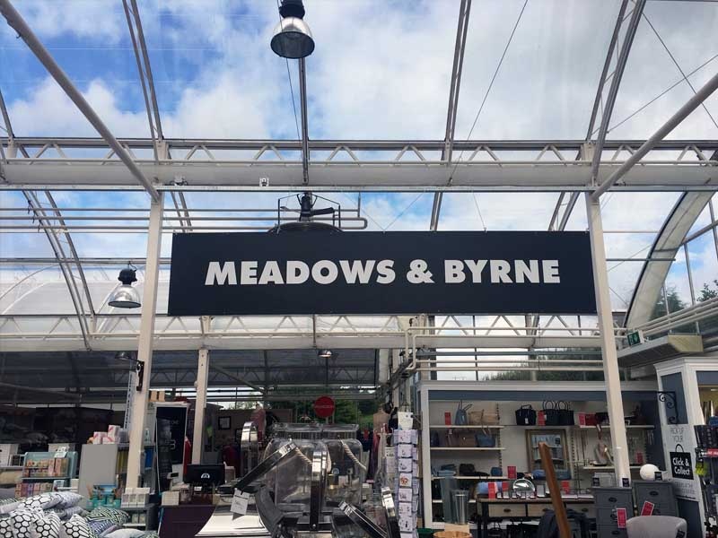 Meadows & Byrne black foamex hanging