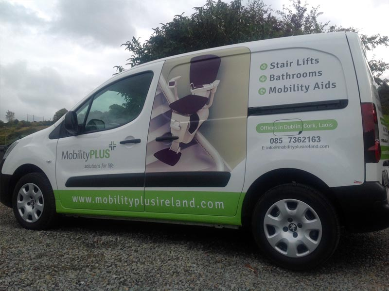 Mobility Plus_Med Van_Partial Wrap