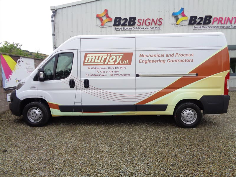 Murjoy Large Van - Partial wrap