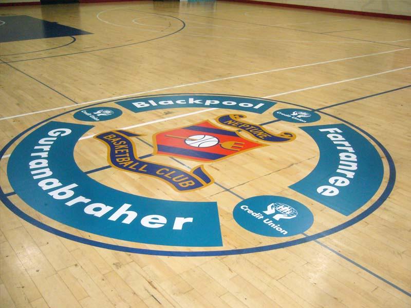 Neptune Basketball Stadium_Gym Floor graphics