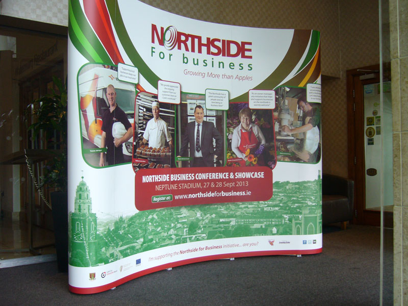 Nothside for Business 5 Panel Pop Up Stand