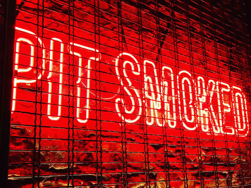 Pit Smoked Illuminated Sign