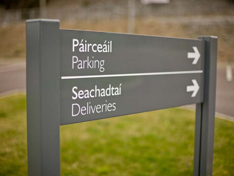 Post panel system car park directions