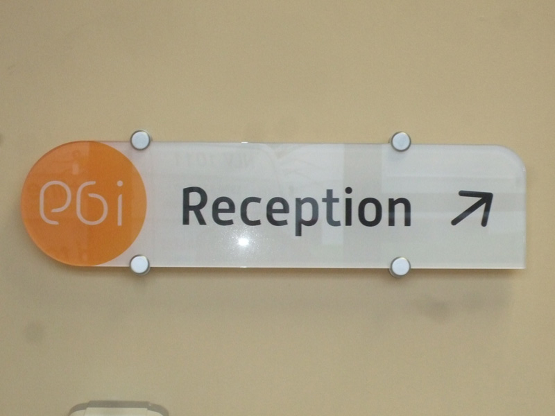 Reception Interior Plaque